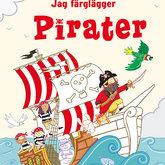 Målarbok Jag färglägger pirater