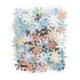Paljetter Snöflingor Blandade färger