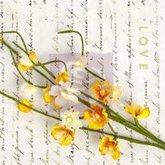 Divine Solid Flower Vine - Yellow