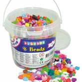 Plastpärlor i burk