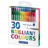 Triplus Fineliner Brilliant Colours 0,3 mm 30-pack