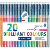 Triplus Brilliant Colours 1,0 mm 20-pack