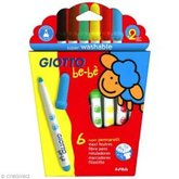 Tuschpennor Giotto Be-Bé 6 pack