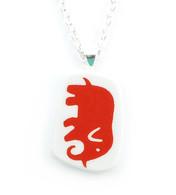 Halsband Elefant Röd