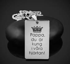 Nyckelring el. Halsband Kung i våra hjärtan