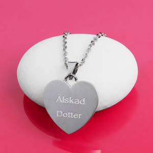 "Halsband Hjärta ""Älskad Dotter"""