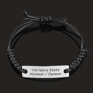 """Armband Happy """"Världens bästa Mormor / Farmor"""""""