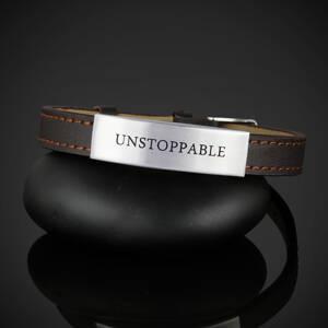 "Läderarmband ""UNSTOPPABLE"""