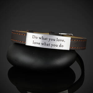 "Läderarmband ""Do what you love, love what you do"""