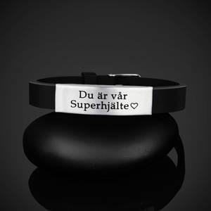 """Armband """"Du är vår Superhjälte"""""""