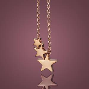 Halsband Stjärnfall Rosé