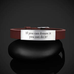 "Armband silikon ""If you can dream it you can do it!"""