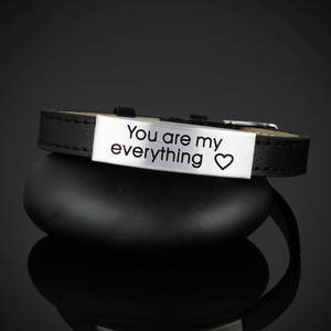 "Läderarmband ""You are my everything"""