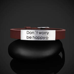 "Armband ""Don´t worry be happy"""