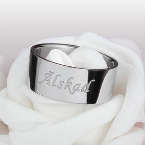 """ERBJUDANDE! Ring """"Älskad"""""""