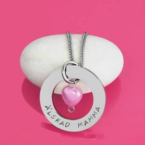 Halsband 32mm pärlhjärta