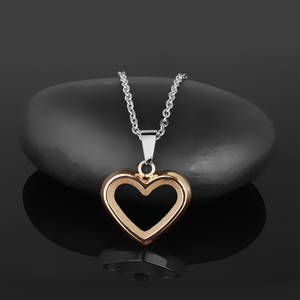 Halsband Hjärta Roséglitter