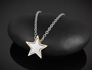 Halsband Stjärna Stål-Rosé