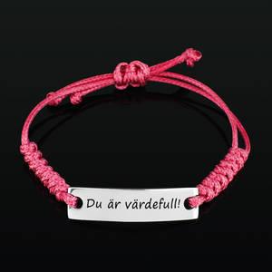 """Armband Happy """"Du är värdefull!"""""""