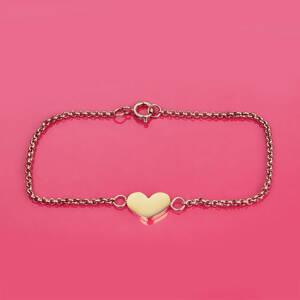 Armband Litet hjärta Rosé