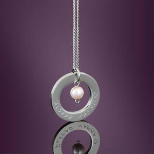 Halsband 32mm med pärla
