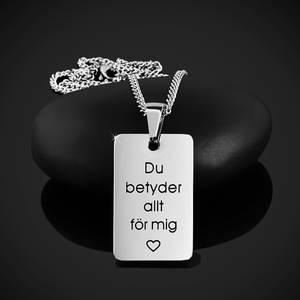 """Halsband """"Du betyder allt för mig"""""""