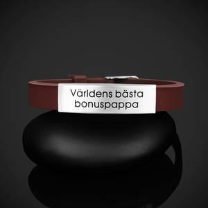 """Armband """"Världens bästa bonuspappa"""""""