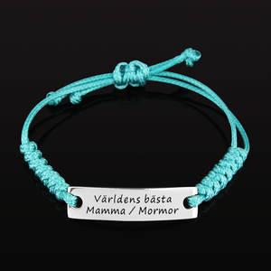 """Armband Happy """"Världens bästa Mamma / Mormor"""""""