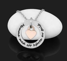 """Halsband """"Mamma med ett hjärta av guld"""""""