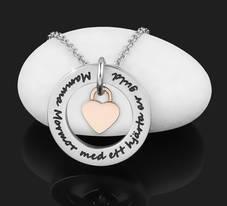 """Halsband """"Mamma Mormor med ett hjärta av guld"""""""