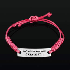 "Armband Happy ""Don´t wait for opportunity, Create it!"""