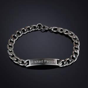Armband Stål Älskad Pappa