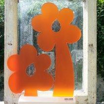2 Orange Blommor