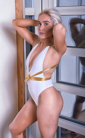 La Diva White Swimsuit