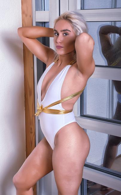 La Diva White Swimsuit