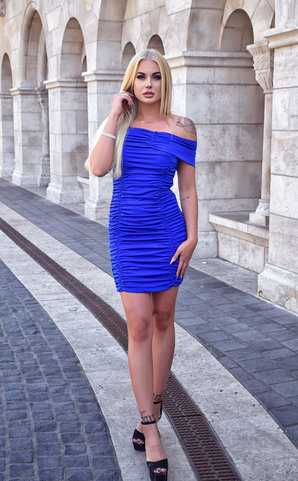 Miss Blue Midi Dress
