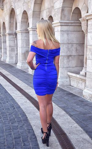 Miss Blue Midi Dress