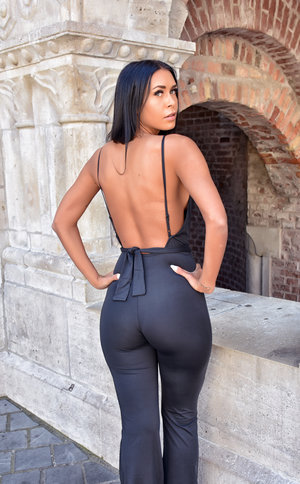 Black Victoria Jumpsuit