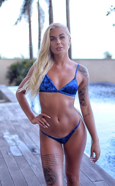 Velvet blue bikini