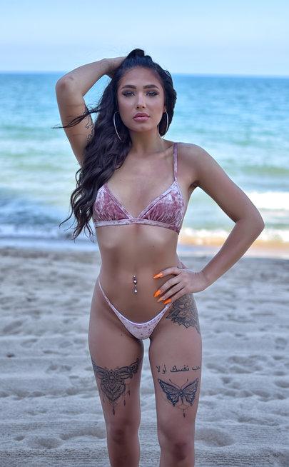 Velvet pink bikini