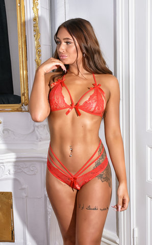 Red Passion lingerie set