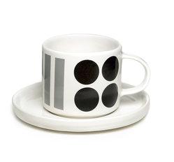DIDO kopp och fat - grå/svart