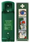 Wall bracket for eyewash bottle