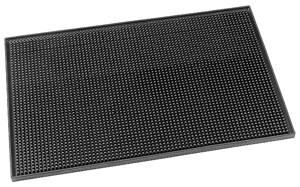 Barmatta, svart gummi, 45x30 cm