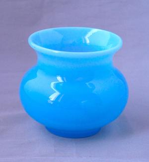 Boda Erik Höglund turquoise glass bowl