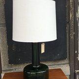 Bordslampa i glas - mörkt grön
