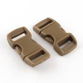 Snäpplås Brun 10 mm - 10-pack