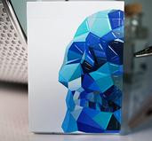 Memento Mori Blue Playing Cards