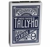 Tally Ho Fan Back Poker size - Blå