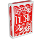 Tally Ho Fan Back Poker size - Röd